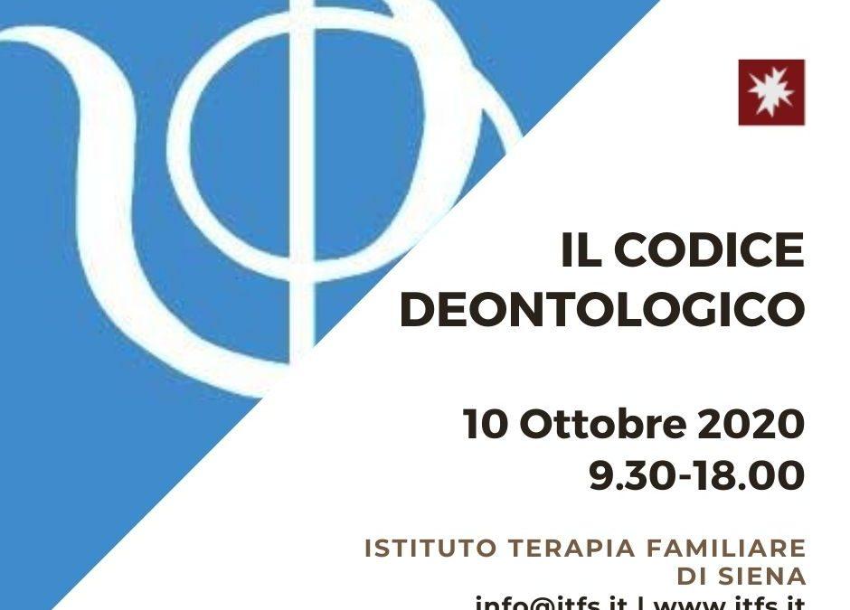 SABATO 10 OTTOBRE – Ilaria Garosi e Alessandra Spera –  Il codice deontologico. Un valido orientamento per lo psicologo e lo psicoterapeuta.