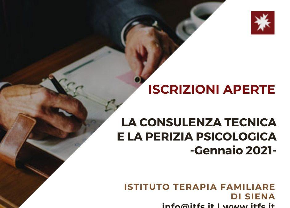 La Consulenza Tecnica e la Perizia Psicologica – Gennaio 2021