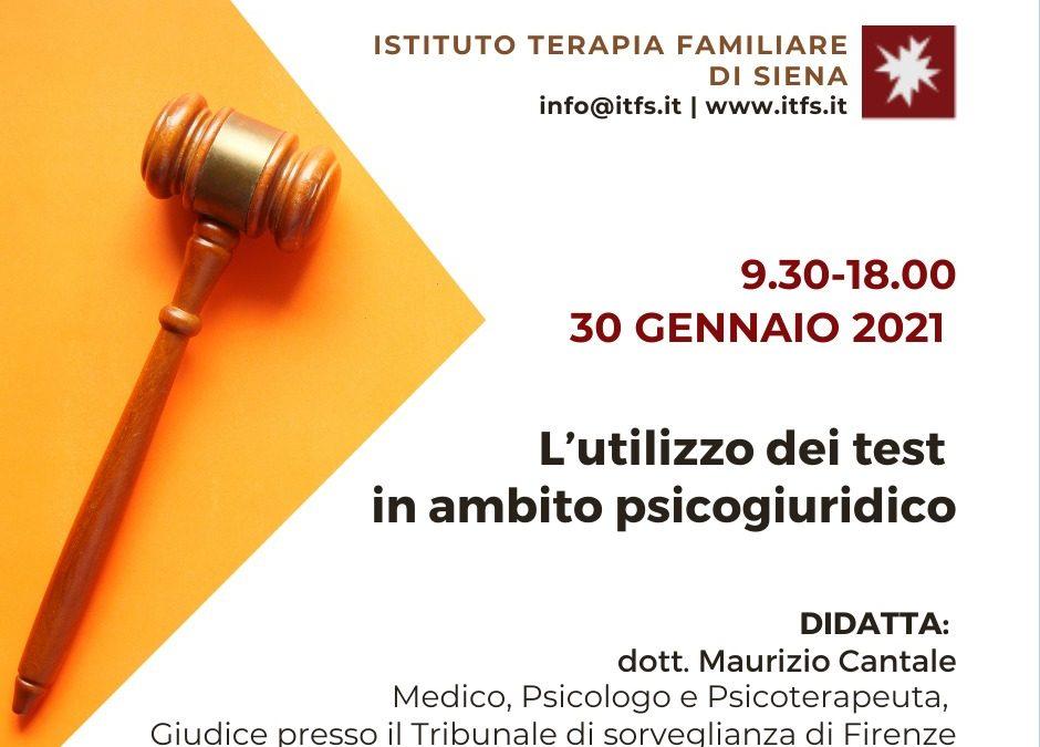 EVENTO RIMANDATO A SABATO 27 FEBBRAIO – Maurizio Cantale –  L'utilizzo dei test in ambito psicogiuridico